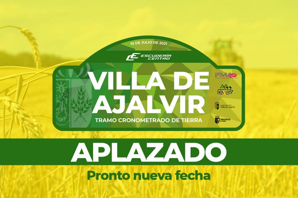 Se aplaza el TCT Villa de Ajalvir porque lo primero es lo primero
