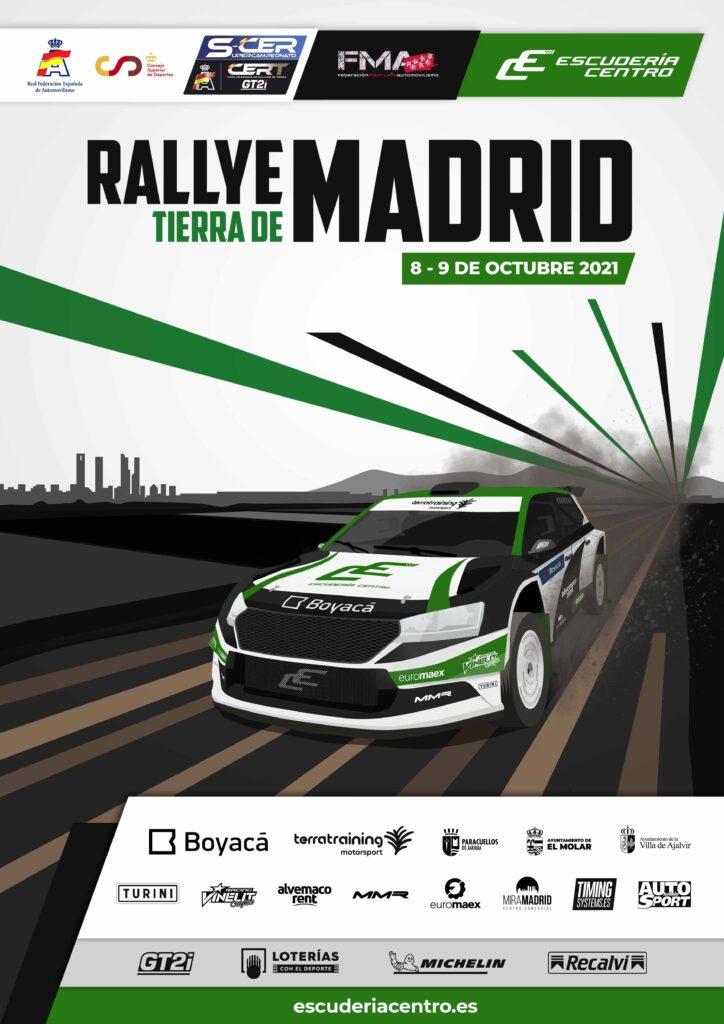 Cartel del Rallye Tierra de Madrid 2021